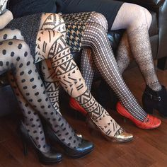 patterned tights