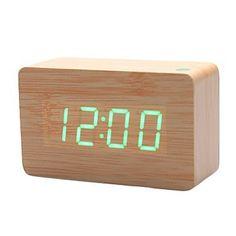 KABB Light Brown Wood Grain Green LED Light Alarm Clock - Time Temperature - Sound Control - Latest Generation(USB/3xAAA) KABB http://www.amazon.com/dp/B00GU9HYKY/ref=cm_sw_r_pi_dp_wHzdvb0BXA7ZJ
