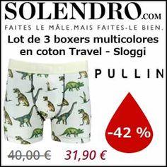 #missbonreduction; Economisez 42 % sur le Lot de 3 boxers multicolores en coton Travel - Sloggi chez Solendro.http://www.miss-bon-reduction.fr//details-bon-reduction-Solendro-i855657-c1834723.html