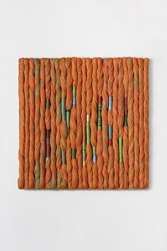Sheila Hicks Dancing The Twist 2016 Yarn Wall Art, Diy Wall Art, Textile Fiber Art, Textile Artists, Tapestry Weaving, Loom Weaving, Fabric Art, Fabric Crafts, Sheila Hicks