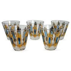 Check out this item at One Kings Lane! Midcentury Shot Glasses, S/5