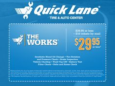 Is your vehicle ready for your spring break travel plans? Have peace of mind knowing that your oil is changed, tires have enough pressure and tread, and your brakes are working properly with The Works at Quick Lane. Click to schedule your appointment today or call 859-238-1197.