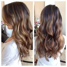 honey balayage on dark brown hair - Google Search