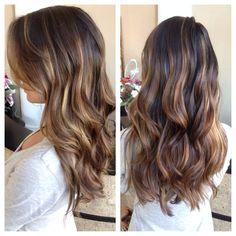 honey balayage on dark brown hair - Google Search