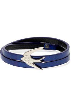 McQ Alexander McQueenSilver-tone faux leather bracelet