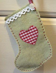 Little Christmas stocking. Handmade Christmas Stockings. http://www.hobbycraft.co.uk/christmas #christmas #stocking #handmadechristmas