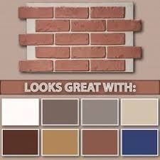 Image result for orange brick front door color