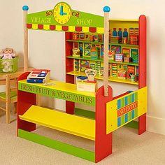 Kids Love Playing Shop And This BigJigs Village Shop Is An Absolute  Cracker! Kids Play