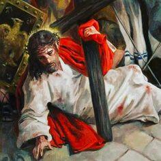 Jesus Christ: Via Crucis // © Raúl Berzosa // Jesus Our Savior, Jesus Art, Pictures Of Jesus Christ, Bible Pictures, Cross Pictures, Catholic Art, Religious Art, Catholic News, Image Jesus