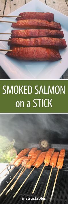 This recipe shows you how to skewer salmon and then cook it on a BBQ to perfection on a stick. Bbq Catering, Catering Food Displays, Fruit Displays, Pellet Grill Recipes, Grilling Recipes, Fish Recipes, Detox Recipes, Smoked Fish, Smoked Salmon