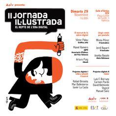 Coordinación de la segunda Jornada Ilustrada organizada por la Asociación Profesional de Ilustradores de #Valencia #APIV. 29 de noviembre de 2011. Ilustración: Elías Taño
