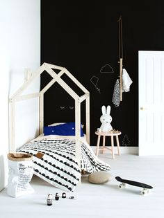 children's rooms in black and white by chiara stella home's blog 7