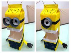 school milk carton recycled projects | diy-minion11.jpg