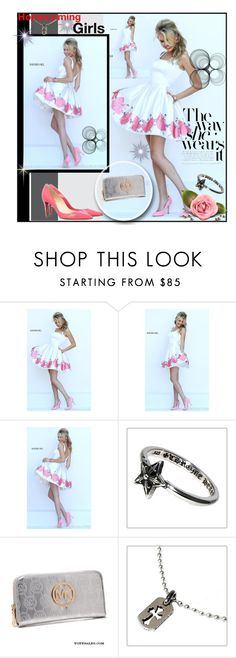 """""""Sherri Hill 50321 Short Cocktail Dress"""" by evermissjody ❤ liked on Polyvore featuring Christian Louboutin and Chrome Hearts"""