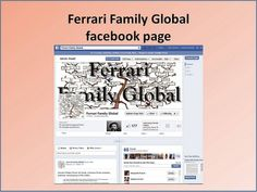 Ferrari Family Global facebook page