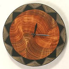 Australia Wall Clock: Daniel Grant, Ingela Noren: Painted Wood Clock | Artful Home