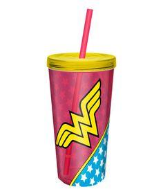 Look what I found on #zulily! Wonder Woman 16-Oz. Tumbler Set #zulilyfinds