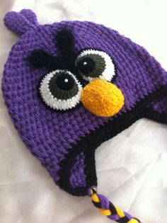 children crochet hat / toddler hat / angry bird hat / by NARELO, $25.00