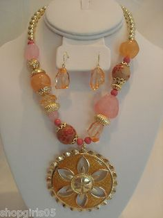 NEW! BEAUTIFUL DESIGNER INSPIRED NECKLACE AND EARRING SET. REALLY PRETTY!!
