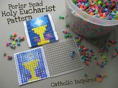 Catholic Inspired ~ Arts, Crafts, and Activities!: Holy Eucharist Perler Bead Pattern