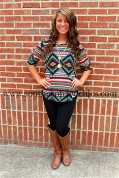 Sabrina Tunic - Rust $44.99! #SouthernFriedChics