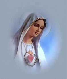 Our Lady of Fatima, Plus: Her Promise of Protection with Her Protective Shield Mother Mary Images, Images Of Mary, Blessed Mother Mary, Blessed Virgin Mary, Religious Images, Religious Art, Jesus Christ Painting, Our Lady Of Sorrows, Christian Images