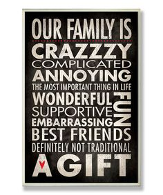This 'Our Family' Wall Sign is perfect! #zulilyfinds