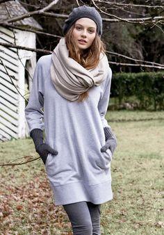 47 Best Sweatshirt dresses   Robes Pull images   Sweater dress ... 059a17baec48