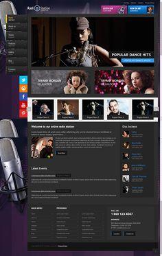 Radio Joomla Template by Dynamic Template