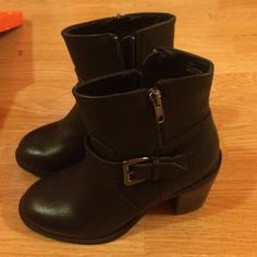 Booties Black booties new with tags and box Shoes Ankle Boots & Booties