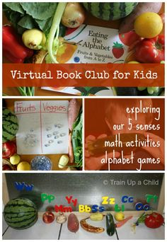 Exploring Our 5 Senses with Fruits and Vegetables - Lois Ehlert September Virtual Book Club Blog Hop