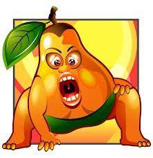 set of funny cartoon fruit design vector Funky Fruit, Cute Fruit, Fruit Splash, Fruit Icons, Game App, Fruits And Veggies, Games For Kids, Graphic Art, Vector Free