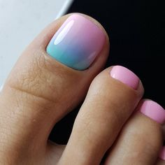 Blue Toe Nails, Pretty Toe Nails, Toe Nail Color, Summer Toe Nails, Toe Nail Art, Cute Nails, Nail Colors, Pedicure Summer, Diy Nails