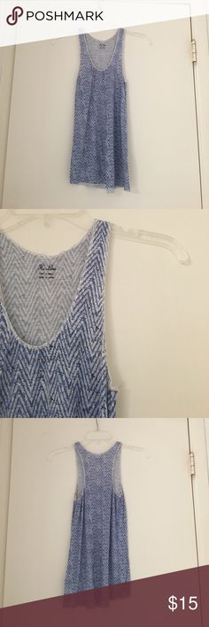 Hi-Line || chevron print tank Details: Super cute lightweight tank. Blue and white chevron print. Greet condition. Worn twice!  ❓Questions? Leave me a comment :) ⚡️Fast shipping  💁🏻 Like anything else? Bundle! 🙂 Feel free to make me an offer! Hi-Line Tops Tank Tops