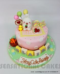 MOLANG CAKE SINGAPORE # FOR CELEBRITY BLOGGER DAWN YANG # CUTE PASTEL SWEET CAKE # BUNNY # RABBIT # JAPAN THEME CAKE SINGAPORE # FEEDBACK # JAPAN ANIME THEME CAKE SINGAPORE | Sensational Cakes Singapore