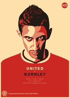For the 2014/2015 season, Manchester United tapped their own in-house design team to create match posters for every fixture of the season. The posters featured an illustrated first team player...