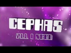 Artist:Cephas Da Rock Song: All I Need    He Gives JESUS Worship on this Song........ I love it YOUR ALL I NEED LORD