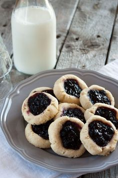 These grain free Blueberry Thumbprint Cookies were so good, I almost couldn't keep the little hands in our house away long enough to get a photo!