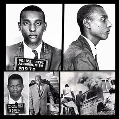 """TBT......The Mug Shots of .Stokley Carmichael & current House of Representative John Lewis during the summer of 1961 with the Freedom Riders. Mr Carmichael was arrested for entering a WHITE ONLY Cafeteria & Comgressman Lewis was arrested JUST for sitting on the bus next to a White Person. later Congressman Lewis qas the FIRST of of the Original 13 Riders that was Assaulted in South Carolina when he entered a """"White's Only""""  waiting Room & 2 White Men Attacked Him #civilrights #blackhistory…"""