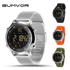 c9f72b60366 BUMVOR EX18 IP67 À Prova D  Água Relógio Inteligente Suporte Chamada e SMS  de alerta Atividades Rastreador Esportes Pedômetro relógio de Pulso relógio  ...