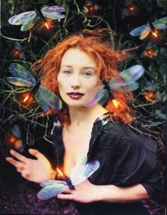 """Tori Amos: Her Secret Garden"" Rolling Stone, 1998. Photograph by David LaChapelle. (Alfred Eisenstaedt best cover of the year photography award, 1999)"