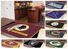 "New NFL Football Team Logo Themed 60"" x 92"" Area Floor Rug Nylon Carpet Mat in Sports Mem, Cards & Fan Shop, Fan Apparel & Souvenirs, Football-NFL | eBay"