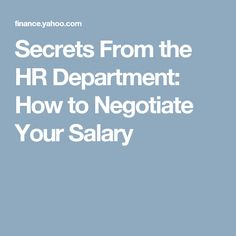 how to negotiate salary job offer