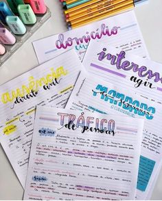 33 Simple Bullet Journal Ideas to Simplify your Daily Activity b u j o u Bullet Journal School, Bullet Journal Notes, Bullet Journal Ideas Pages, Bullet Journal Inspiration, Cute Notes, Pretty Notes, Class Notes, School Notes, Lettering Tutorial