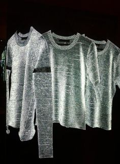 reflective sweater yarns//