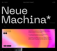 Neue Machina — Free Typeface on Behance Typography Poster, Typography Design, Lettering, Graphic Design Posters, Graphic Design Inspiration, Web Layout, Layout Design, Typographie Inspiration, Site Art