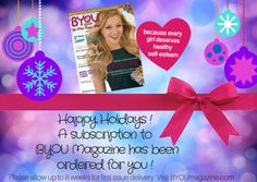 Merry Christmas Eve! A subscription to BYOU Magazine is the perfect last-minute #stockingstuffer idea for #tween & #teen girls! It's only $17.97 for an entire year of empowerment & self-esteem! SUBSCRIBE TODAY! Downloadable e-cards at available at: byoumagazine.com/gift-card