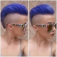 "✂Who loves pixies?  en Instagram: ""@lanniesullivan. Has gone purple"""