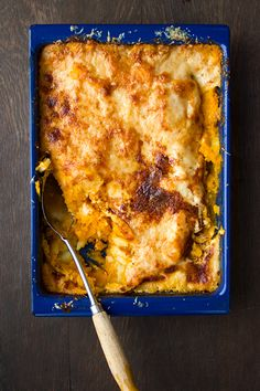 A twist on potato gratin, this rich and cheesy side dish highlights the versatility of squash. See the recipe »