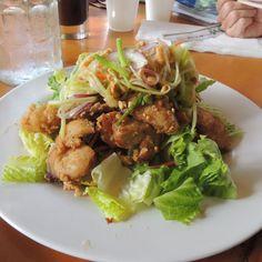 Crispy Opaka at Pranee's Thai Cuisine in Hana, Maui, yum!